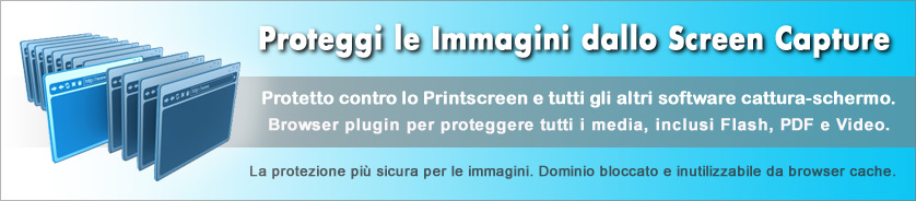 Copy Protection per immagini, pagine web e Web Media